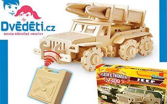 3D puzzle, ze kterých si složíte auto na dálkové ovládání za 359 Kč!