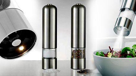 Kvalitní ELEKTRICKÝ MLÝNEK na pepř či sůl za úžasných 299 Kč včetně poštovného! Dárek na každý stůl.