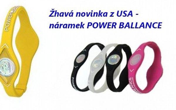 Přidejte se ke špičkovým sportovcům ! Pouhých 89 Kč za náramek Power Ballance, jejímž efektem je vyšší tělesná výkonost při sportu i v každodenním životě ! Novinka z USA s ohromnou 71 % slevou !