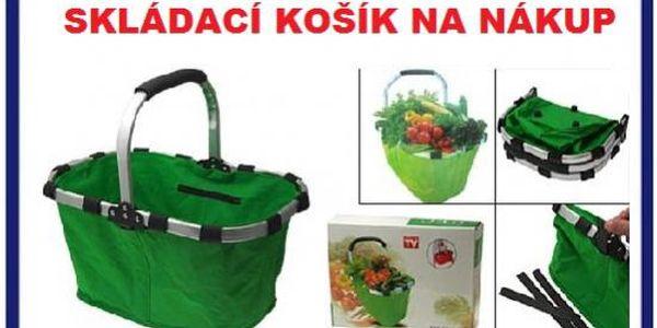 Módní skládací nákupní košík zelený za 119kč