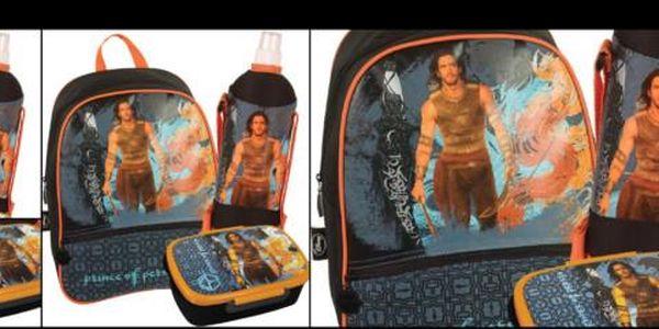 Dárkový set - Junior batoh, lahev na pití a box na svačinu Disney Princ z Persie se slevou 40%! Pořiďte svému dítěti dárkový školní set za pouhých 399 Kč!