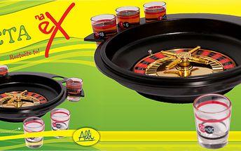 Roztočte to s Ruletou Na ex! Párty hra, která vybere nápoj za Vás! Ideální hra na večírek, narozeninovou oslavu, Silvestr, na posezení s přáteli a vůbec pro každou příležitost!