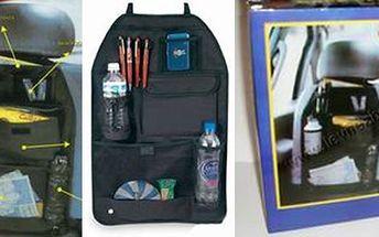 Chcete udržet ve svém autě pořádek? Využijte akci na kapsář - auto brašna na autosedačku Back Seat, který má 7 přihrádek. Už nikdy nebudete mít spoustu věcí na sedačkách!