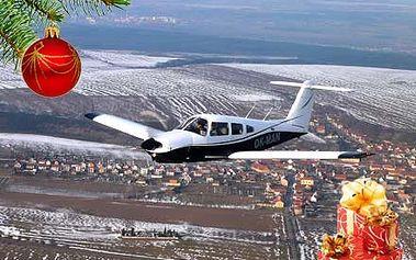 Darujte 20 minutový let ve čtyřmístném letounu Piper Arrow z letiště Plzeň - Líně s možností řízení letadla.