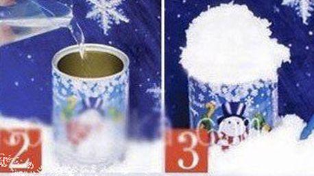 Skvělých 119 Kč za 1 balení umělého vánočního sněhu! Vytvořte si s naší směsí na vytvoření umělého sněhu perfektní ledovou výzdobu v pokojíčku! Sleva 51 %!