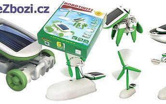 Solární stavebnice robota SolarBot 6v1! Geniální hračka, spojující zábavu a vzdělaní, je vyhledávána malými i velkými konstruktéry! Pouze 30 kupónů k dispozici!