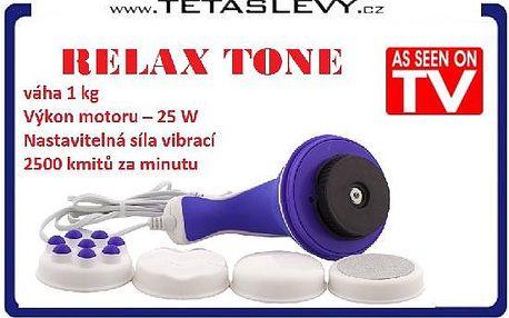 Relax a Tone masážní stroj 4+1NÁSTAVEC pro Masáž celého těla znáte z tv za 315kč