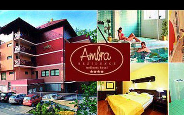 3 990,- Kč za 3denní rozmazlující wellness pobyt v lázeňském městě Luhačovice s ubytováním v luxusním hotelu Rezidence Ambra pro dvě osoby, nyní s 40% slevou.