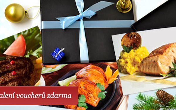 827 Kč za dárkový balíček Labužník s vouchery do tří restaurací. Vynikající gastronomie v Port 62, klokaní steaky a indická restaurace Golden Tikka.