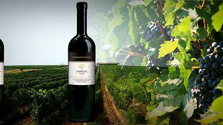 Exkluzivní vína Fonko Merlot 2006 a Cabernet Sauvignon 2007! V letošním roce toto víno získalo zlatou medaili v soutěži vín Prague Wine Trophy!!!
