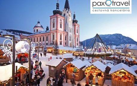 1-dňový poznávací zájazd do rakúskeho MARIAZELLU od CK PAXTRAVEL! Navštívte najvýznamnejšie pútnické miesto Rakúska, adventné trhy s najväčším adventným vencom na svete či ozajstnou perníkovou chalúpkou teraz so zľavou 31%!
