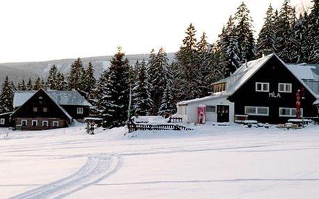Lákavé ubytování pro DVA na 3 dny v Horské Boudě Míla v Peci pod Sněžkou za 999 Kč. 54% sleva na 2 noci v Horské Boudě Míla s polopenzí, čeká na Vás welcome drink, tradiční česká kuchyně a upravené běžecké tratě.