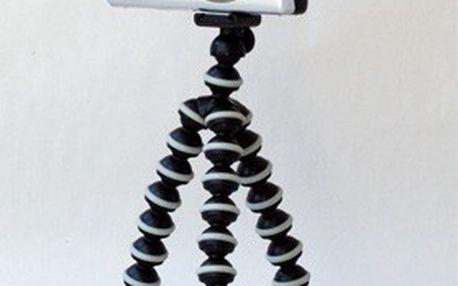 Univerzální flexibilní stativ. Neuvěřitelně ohebné a nastavitelné nohy stativu fixují foťák téměř kdekoliv
