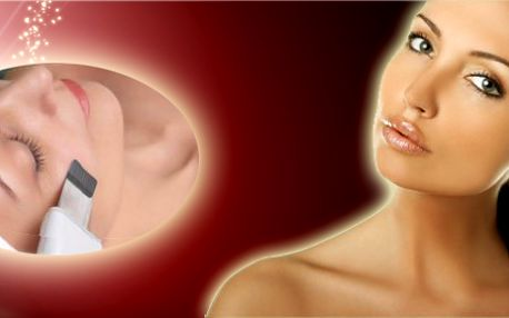 Velmi účinné kosmetické ošetření pleti ultrazvukovou špachtlí! Vyčistí Vaší pleť bez jakéhokoliv podráždění a zbaví Vás nehezkých známek mládí!