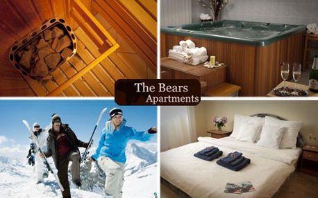 3 alebo 4-dňový WELLNESS pobyt s pol penziou pre 2 osoby v luxusných The Bears Apartments v TATRANSKEJ LOMNICI! Večerné grilovanie, sauna či vírivka a neobmedzený fitness v cene! Užite si našu najobľúbenejšiu lyžiarsku lokalitu so zľavou až 61%!