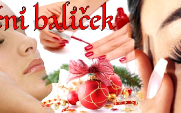 71% sleva na speciální vánoční balíček: prodloužení řas, lakování cnd, úprava a barvení obočí