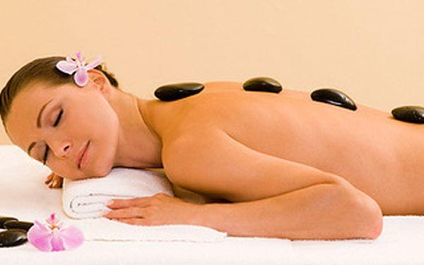 Masáž lávovými kameny + antistresová masáž hlavy (100 minut)