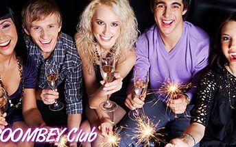 Silvestrovský večírek v BOOMBEY CLUBu za 135 Kč. Bohatý program, welcome drink a občerstvení s 50 % HyperSlevou.