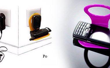 Držák na mobil je elegantní řešení pro nabíjení mobilu, PDA nebo MP3 přehrávače. Už žádné kabely, které jenom překáží. Stačí zapojit nabíječku do zásuvky a položit mobil na držák!