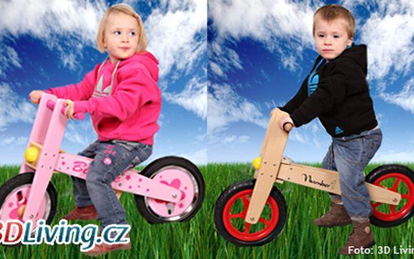 799 Kč za dětské odrážedlo CrazyWood z kaučukového dřeva. Připravte své děti na jízdu na kole!