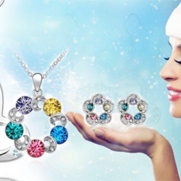 Krásný a okouzlující set šperků Swarovski Elements. Obdarujte na Vánoce sebe nebo své blízké krásným šperkem v původní hodnotě 750 Kč, nyní jen za 369 Kč!