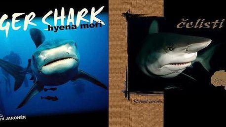 Nádherné knihy nejen o žralocích autora Richarda Jaroňka s 50% slevou! Kniha je krásným dárkem na Vánoce pro Vaše nejbližší. Vybrat si můžete z knih TIGER SHARK - hyena moří a jejího volného pokračování ČELISTI AFRIKY - součástí této knihy je také DVD a PRAVÝ ŽRALOČÍ ZUB!