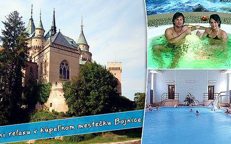 3 denní pobyt pro DVĚ osoby s polopenzí v 3* hotelu Regia v malebném lázeňském městečku Bojnice na Slovensku již od 1937 Kč - polopenze, masáž a vstup do lázní.