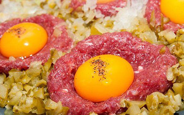 159 Kč za 300g XL TATARÁK! Zburcujte kamarády a nenechejte si ujít Tatarský biftek z pravé svíčkové za jedinečnou cenu!