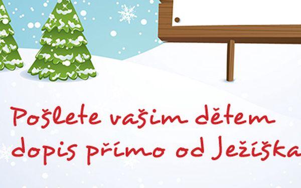 Pošlete vašim dětem dopis přímo od Ježíška! Za pouhých 175 Kč zpříjemněte vašim dětem čekání na Vánoce a dopřejte jim to úžasné překvapení až otevřou obálku a v ní najdou dopis od samotného Ježíška!