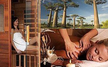 Relax balíček 70min. - infra sauna + originální madagaskarská masáž