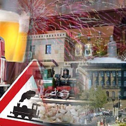 SILVESTR na Václavském náměstí v zážitkové restauraci Výtopna s 55% slevou jen za 888 Kč!! Neomezené jídlo!! Zábavný program!! Rozvoz nápojů vláčkem přímo na váš stůl!! Originální oslava příchodu nového roku!!