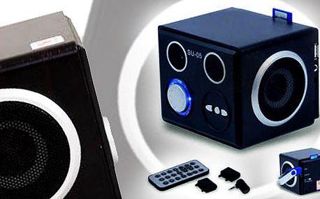 Luxusní MP3 přehrávač s dálkovým ovládáním (USB flash + čtečka paměťových karet)! Vánoční dárek pro každého, kdo má rád hudbu!!