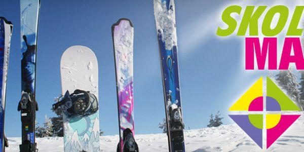 PŮJČOVNA LYŽÍ A SNOWBOARDŮ ve Špindlerově Mlýně s 45% slevou!! Vyčerpaly vás finančně vánoční dárky? Půjčte si lyžařské náčiní přímo u sjezdovky za nejnižší možné ceny - už od 133Kč!!