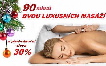 Pojďte si užít 90 minut dvou luxusních masáží v jedné - lomi lomi a hot stones a za prima před-vánoční cenu !