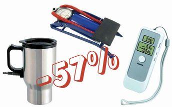 Skvělá cena za praktický dárek na Vánoce pro řidiče! Sleva 57%! Digitální alkoholtester, termohrnek a pumpička!!