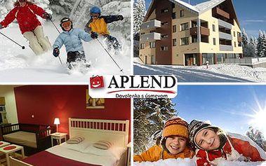 4-dňový pobyt pre 3 osoby s raňajkami v luxusnom apartmánovom dome GREENFIELD*** na Martinských Holiach! Zrelaxujte v malebnom prostredí regiónu Turiec a zažite skvelú lyžovačku s ubytovaním priamo pri svahu! Teraz so zľavou až 50%!
