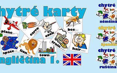 Naučte se cizí jazyk hrou s pomocí Chytrých karet za skvělou cenu 87 Kč! Učení nebylo nikdy tak snadné! Zábavná forma výuky cizích jazyků pro celou rodinu. Super nápad na vánoční dárek.