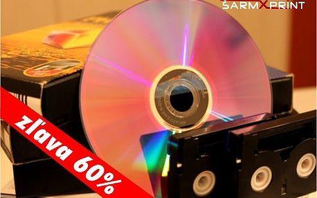 Uchovajte si Vaše spomienky z videokaziet na DVD so zľavou až 60%.
