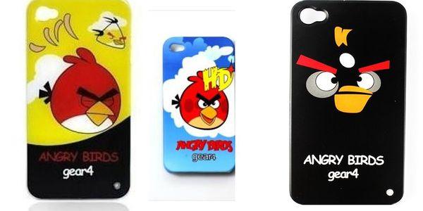 Vše pro iPhone 4! Bombastická 5-dílná sada jen za 369 Kč! Kryty Angry Birds, záchranná nabíječka, fólie a další...
