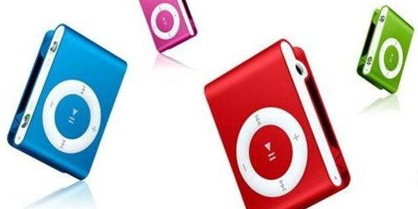 Báječný praktický modrý MP3 přehrávač s klipsnou jen za 369 Kč!! Parádní Vánoční dárek od Slevoviny.cz potěší každého!!