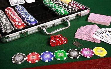 Poker set s jedinečným designem v hliníkovém kufříku. BONUS: 100% plastové karty ZDARMA. To vše za úžasných 699,- Kč.