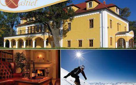 ZIMNÁ LYŽOVAČKA s ubytovaním na 2 alebo 3 noci a polpenziou v romantickom Kaštieli Lučivná! Vezmite lyže, svoju lásku a vyrazte do Vysokých Tatier! Len teraz za POLOVIČNÚ CENU! + 2-dňový skipass pre dvoch v Snowparku Lučivná v cene!