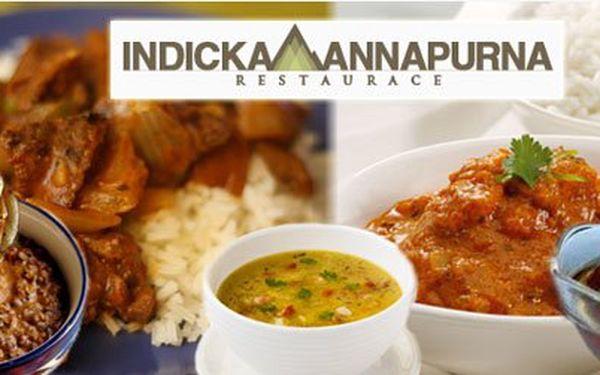 Jen 199 Kč za 5-ti chodové INDICKÉ degustační menu pro DVA v pravé indické restauraci Annapurna! Poznejte taje indické kuchyně s 50% slevou!