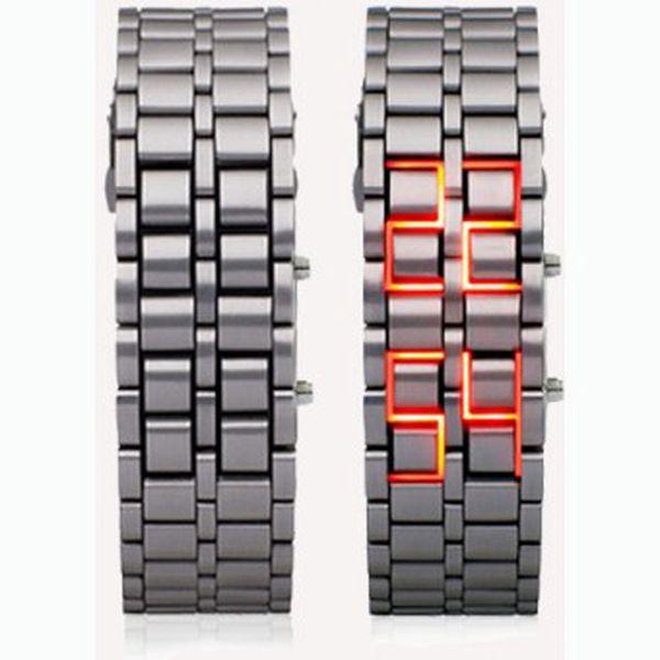 UDĚLEJTE DOJEM novými LED hodinkami ve STŘÍBRNÉM provedení s červeným LED zobrazením času za 375 Kč včetně poštovného!