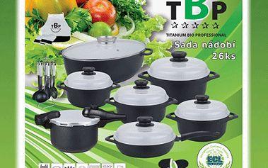 26dílná sada titanového nádobí s 50% slevou – vařte rychle, zdravě, úsporně!