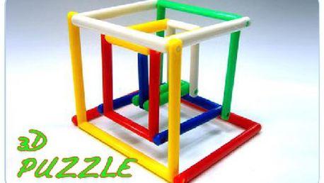 3D puzzle, báječná hra s neomezenou představivostí a fantazií pro děti! Úžasný dárek k Vánocům.