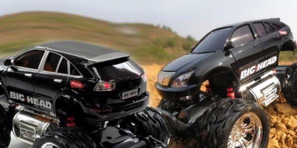 Pretekajte alebo si vyskúšajte jazdu zručnosti s nadupanou károu! RC model auta - BIG HEAD - Toyota Harrier za vianočnú cenu 23.99 Eur! Zábava pre malé i veľké ...