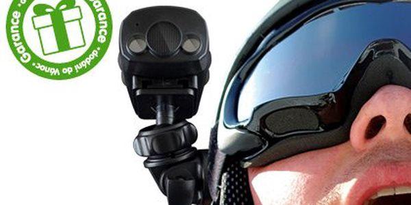 Miniaturní ActionCam OUTDOOR – sportovní minikamera s příslušenstvím. Anti-shock systém a rozlišení 640×480 pixelů, integrované osvětlení, voděodolné provedení