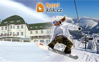 Vánoce s wellness včetně polopenze pro dva v Hotel Palace Club*** ve Špindlerově mlýně! Hotel se nachází v bezprostřední blízkosti ski areálu!