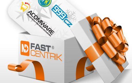 Darujte pod stromeček netradiční zážitek, darujte úspěch: internetovým obchodníkem se službou FastCentrik! 93% sleva na vánoční e-balíček: 3 měsíce provozu eshop systému FastCentrik Gold, 3hodinové on-line školení, 5 hodin na libovolné služby e-brigádníka, 3měsíční přístup do znalostní databáze.
